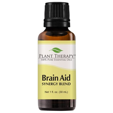 Plant Therapy Essential Oil | Brain Aid Synergy | Focus & Attention Blend | 100% Pure, Undiluted | 30 mL (1 oz)