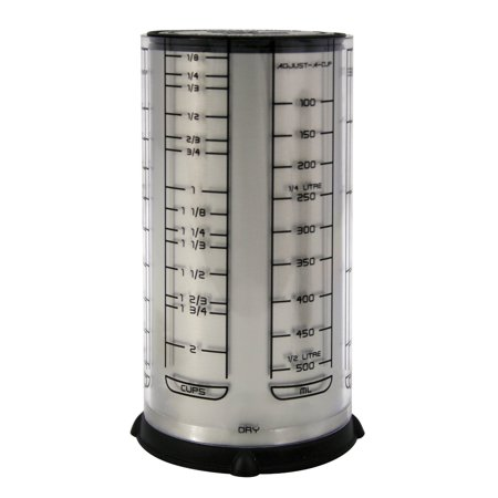 - Fox Run KitchenArt Pro 2 Cup Adjust-A-Cup Dry Liquid Measuring Standard & Metric