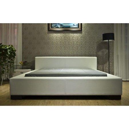 Greatime B1142 Modern Platform Bed, King, White
