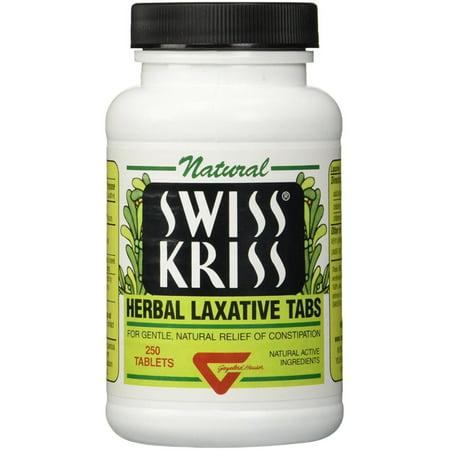 Swiss Kriss Herbal Laxative Tablets 250 ea