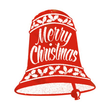 Red Glittered Christmas Bell Signs Festive Holiday Decoration 18