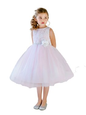 742738472 Product Image Efavormart Glamorous and Lace tulle Dress with Flower  Accented Belt Birthday Girl Dress Junior Flower Girl