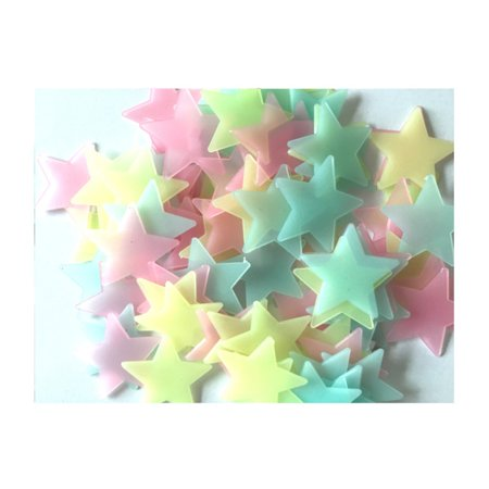 100Pcs DIY Luminous Star Wall Stickers Fluorescent Glow In The Dark for Bedroom - Glow In The Dark Rave Clothes