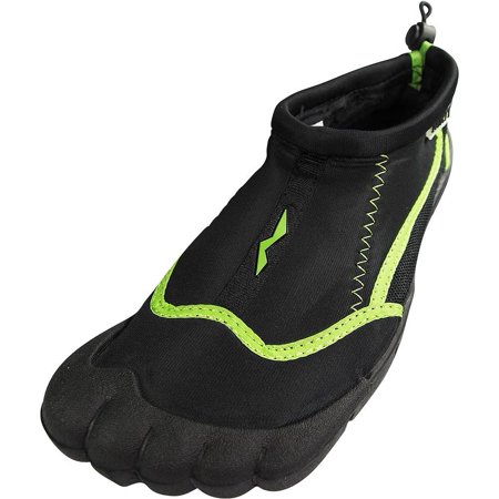 Norty - Women Quick Drying Aqua Shoes Water Sports Shoes for Beach Pool Boating Swim Surf Black/Lime / 5 B(M) US ()