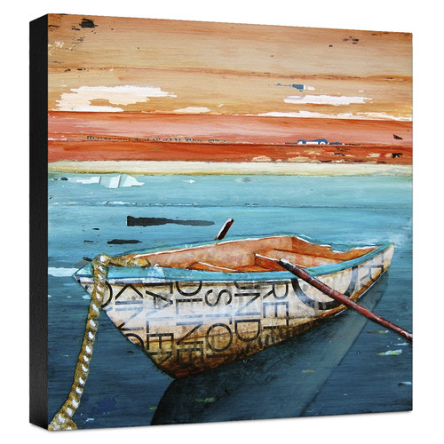Ashton Wall D cor LLC 'Coastal Tranquility' Painting Print on Wrapped Canvas