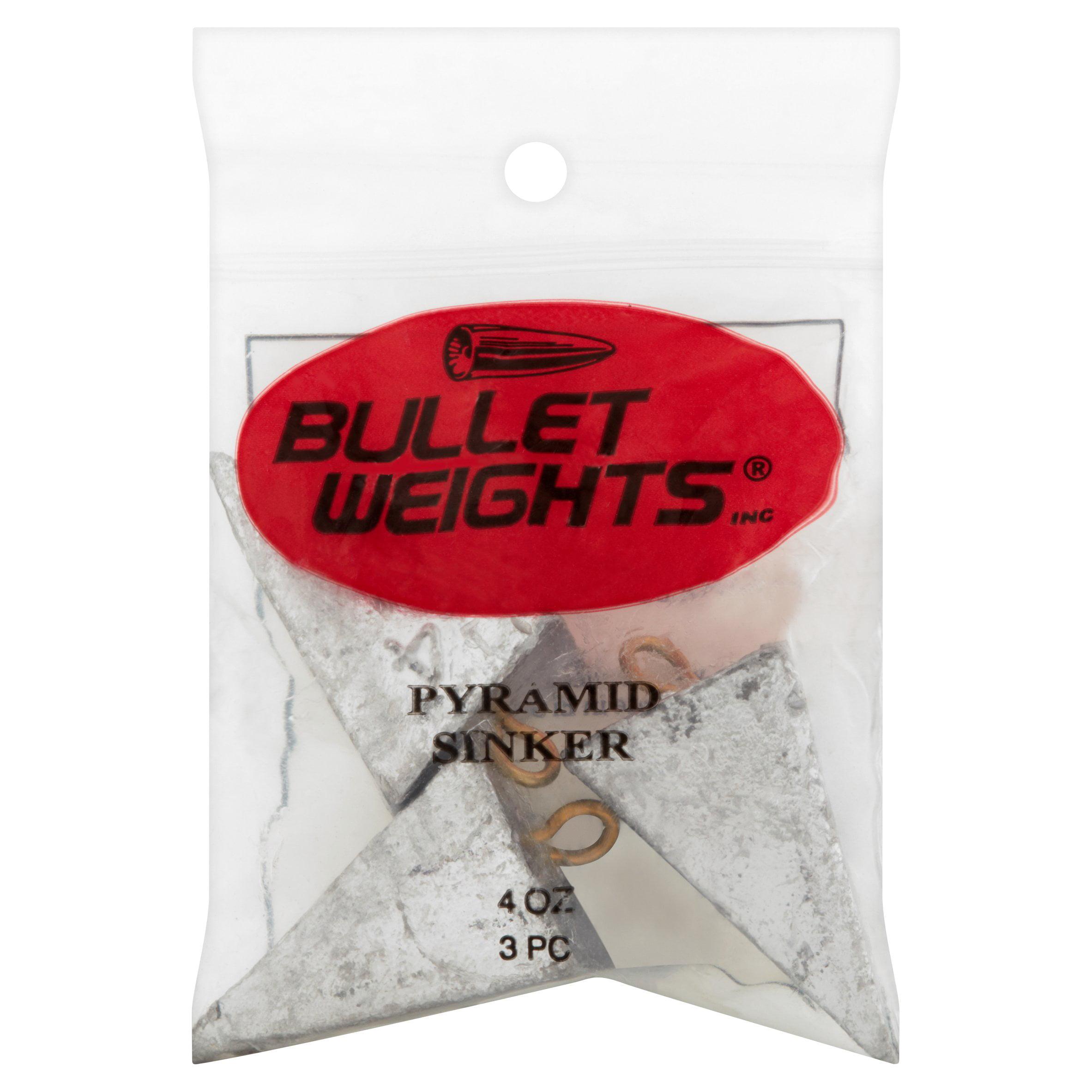 Bullet Weights® Pyramid Sinkers 4 oz 3 sinkers