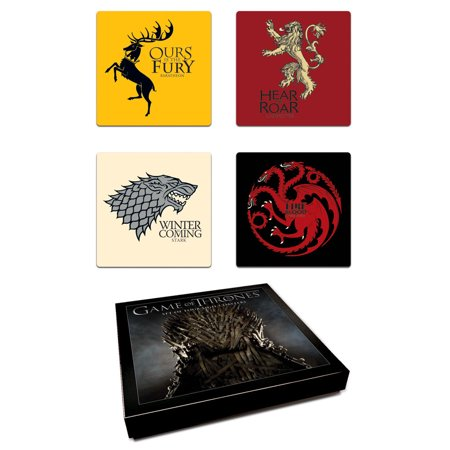 Game Of Thrones House Coaster Set (Game Coasters)