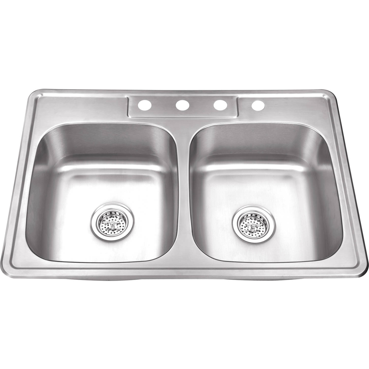 Magnus Sinks 33-in x 22-in 20 Gauge Stainless Steel Double Bowl Kitchen Sink
