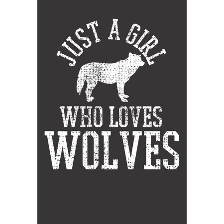 Notebook : Wolves Wild Animal Wolf Wildlife Vintage Dot Grid 6x9 120 Pages