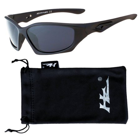 HZ Series Pro - Premium Polarized Sunglasses by Hornz - Matte Black Frame - Dark Smoke Lens