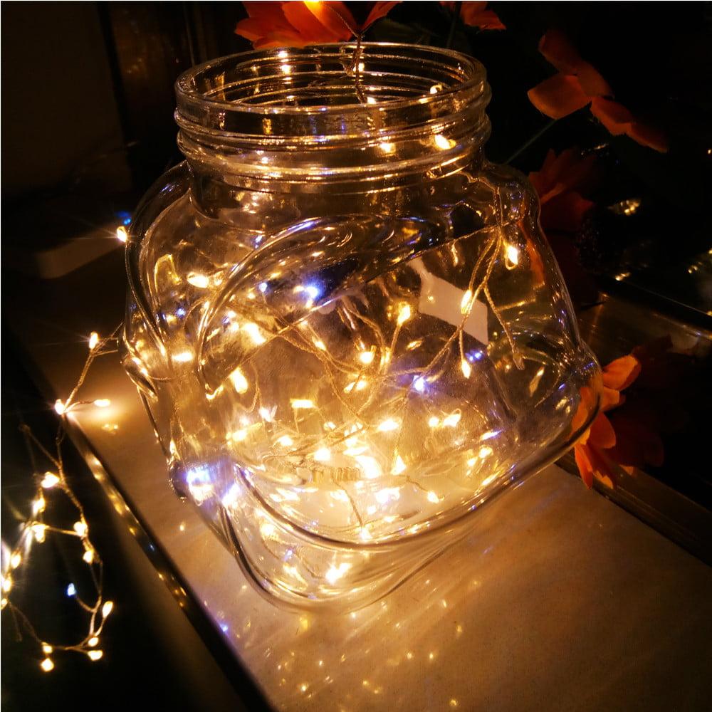 Huppin's USB Firecracker Lamp Silver String 2 Meters 120 Lamp Rice Grain Light Warm White