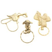 Detti Originals  SPEC Saddle/ Dog in a Boot and Hat & Crop 3-piece Spectacle Brooch Set