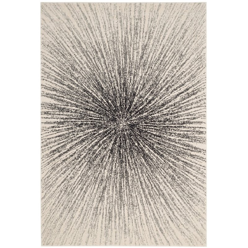 Safavieh Evoke 10' X 14' Power Loomed Rug in Black and Ivory