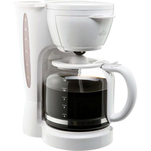 Rival 12-Cup Coffee Maker, White - Walmart.com