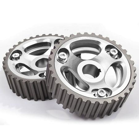 ModifyStreet® 2PC For 97-01 Honda CRV 2 0L B20 DOHC Engine Silver  Adjustable Cam Gears Pulley