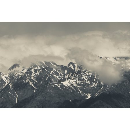 Russian Landscape - High angle view of mountain landscape Carousel Mountain Krasnaya Polyana Sochi Caucasus Mountains Russia Poster Print