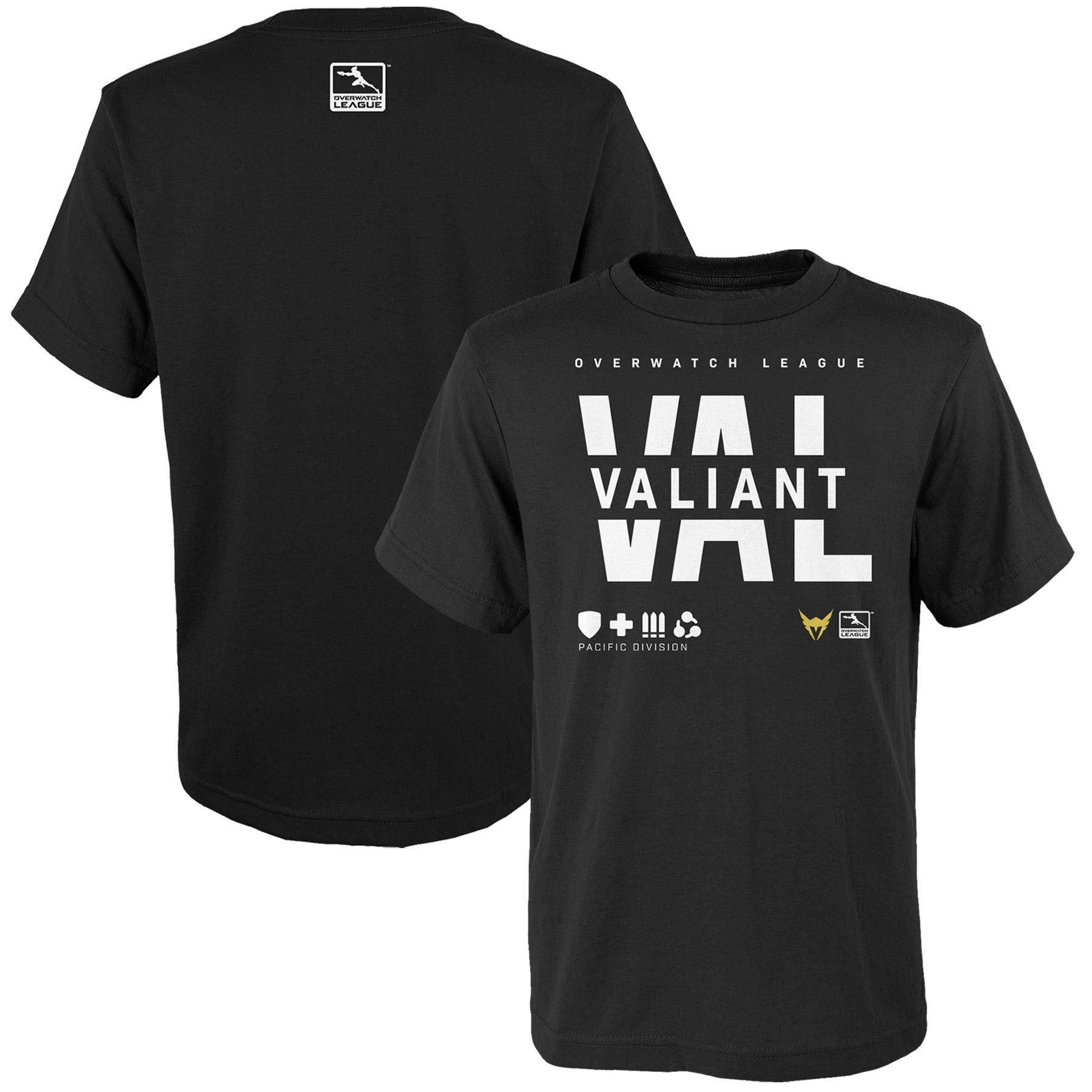 Los Angeles Valiant Youth Overwatch League Splitter T-Shirt - Black