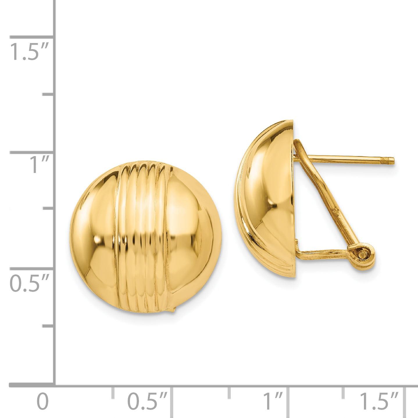 14K Yellow Gold Omega Post Earrings - image 1 of 2