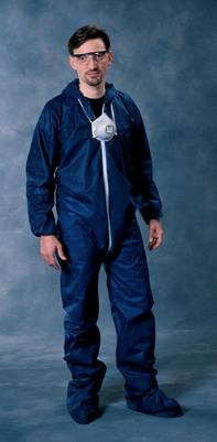 Radnor Large Blue Spunbond Polypropylene Disposable Coveralls With Front Zipper Closure... by Radnor