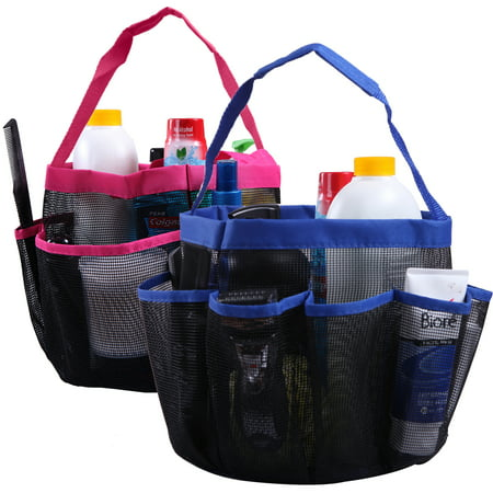 HDE Shower Caddy Mesh Bag College Dorm Bathroom Carry Tote ...
