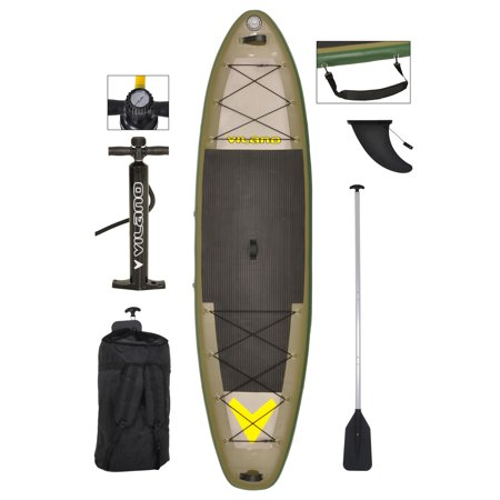 Vilano sport fishing inflatable sup stand up paddle for Inflatable fishing paddle board