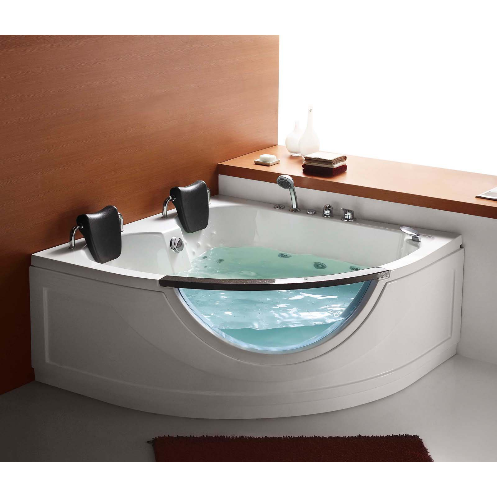 Two Person Corner Whirlpool Tub