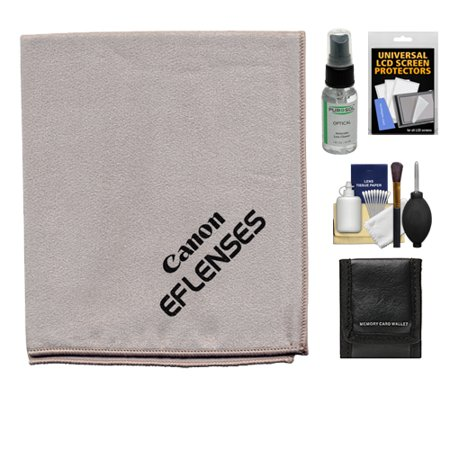 Canon Microfiber Cloth, Hurricane Blower, Brush, Fluid, Tissue & Lenspen Cleaning Kit + Accessory Kit for EF Lenses & EOS 6D, 70D, 7D, 5DS, 5D Mark II III, Rebel T5, T5i, T6i, T6s, SL1 DSLR Camera