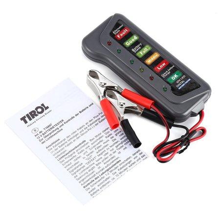 12V 6 LED Digital Analyze Alternator Battery Load Tester for Motorcycle Car - image 2 of 3