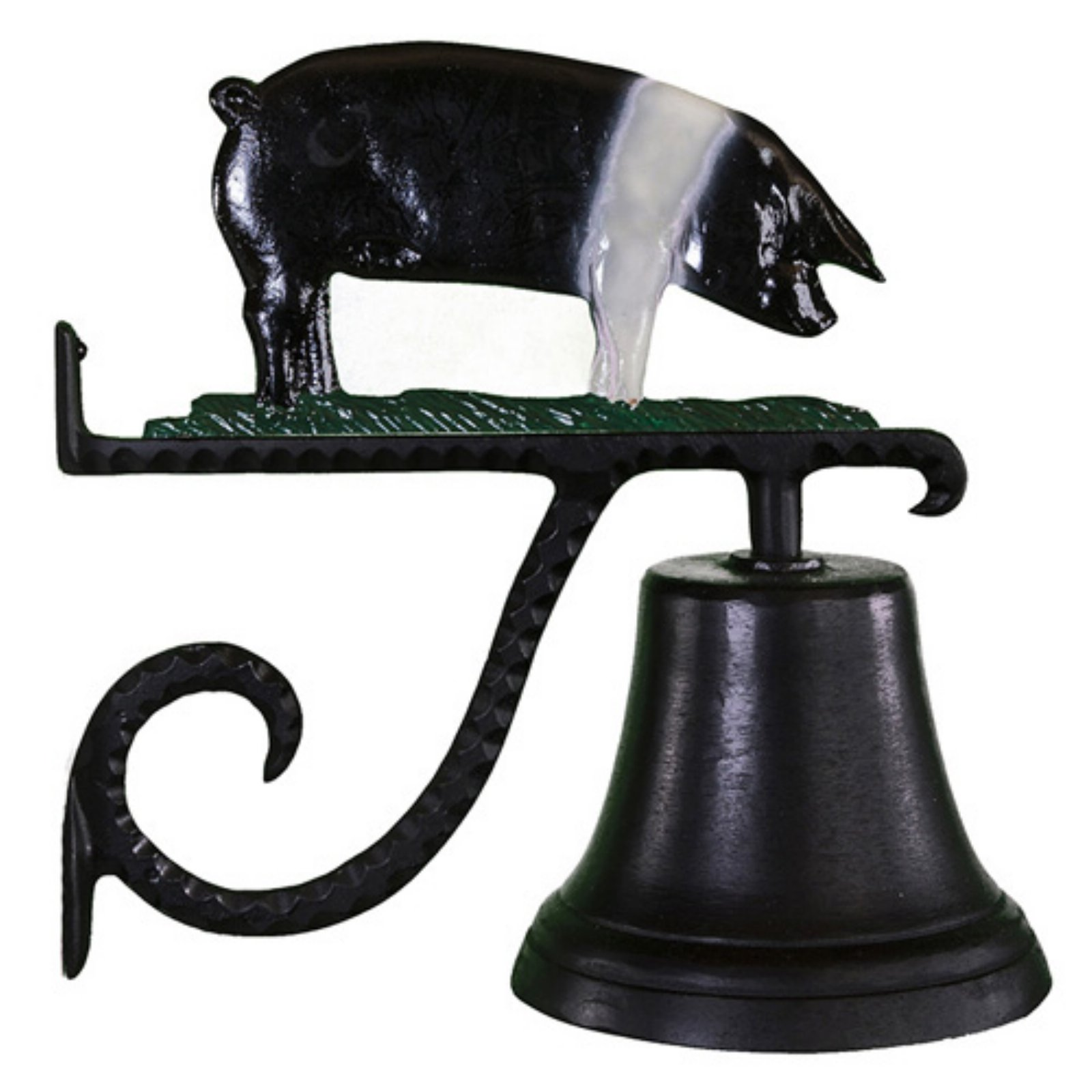 Cast Bell with Color Pig Ornament