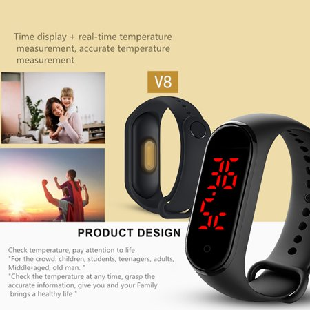AIHOME Body Temperature Bracelet Smart Watch Real-Time Monitoring Thermometer - image 4 de 9