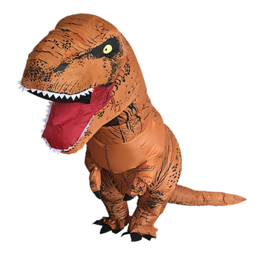 Inflatable Dinosaur Costume for Adult T-Rex Jurassic World Fancy Dress Cosplay by