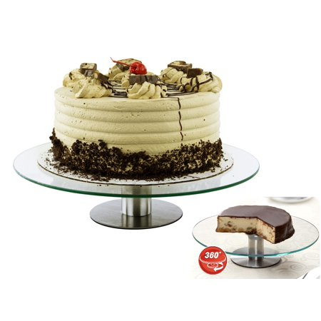 360-Degree Moving Glass Wedding Cake Stand with Steel Base - Walmart.com