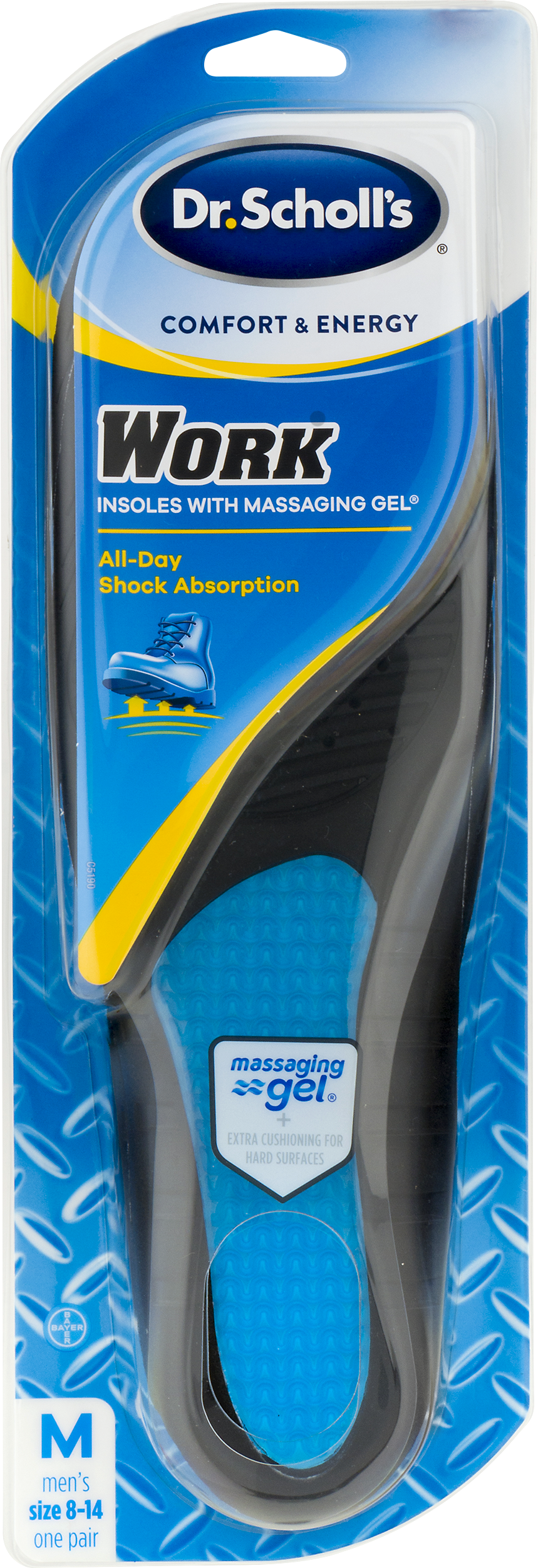 Dr. Scholls Comfort and Energy Work Insoles for Men, 1 Pair, Size 8-14 by Bayer Healthcare LLC
