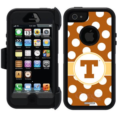 University Of Texas Polka Dots Design On Otterbox Defender Series Case For Apple Iphone 5 5S