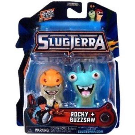 Slugterra Mini Figure 2-Pack Rocky & Buzzsaw [Includes Code for Exclusive Game Items] Multi-Colored