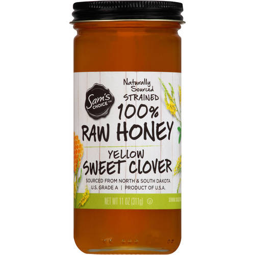 Sam's Choice 100% Raw Honey, Yellow Sweet Clover, 11 oz