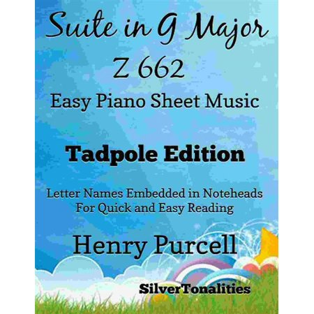Suite in G major Z 662 Easy Piano Sheet Music Tadpole Edition - (662 Peach)
