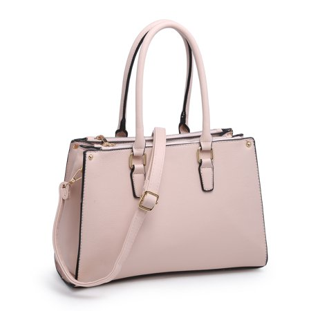 Leather Designer Inspired Handbag (Women Top Handle Handbags, POPPY Ladies Designer Purses Shoulder Bags Pu Leather Tote Bags, Nude)