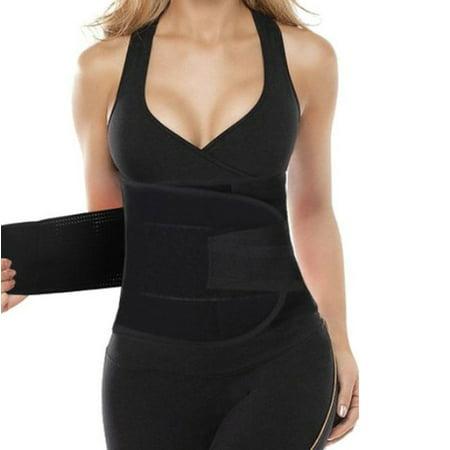 - Women's Firm Compression Tummy Trimmer Waist Cincher Workout Sport Trainer Belt Body Shaper, Small, Black