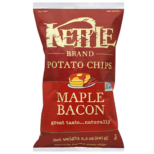 Kettle Brand Maple Bacon Potato Chips, 8.5 oz, (Pack of 12)