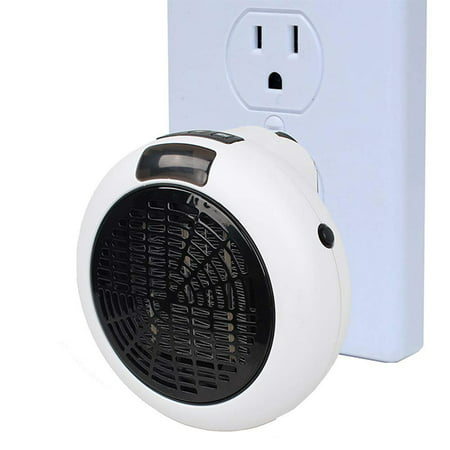 Mini Powerful Plugable Portable 600w into a standard AC Outlet - Heats Room Quickly, Temperature Setting, Easy to Carry