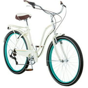 "26"" Schwinn Fairhaven Women's 7-Speed Cruiser Bike, Cream"