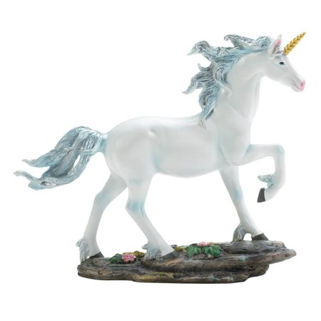 White Animal Figurines, Home Decorative Display Unicorn Figurines, Poly Resin