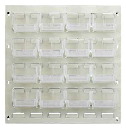Louvered Panel,10 lb.,Oyster White,Clear QUANTUM STORAGE SYSTEMS QLP-1819HC-220-16CL