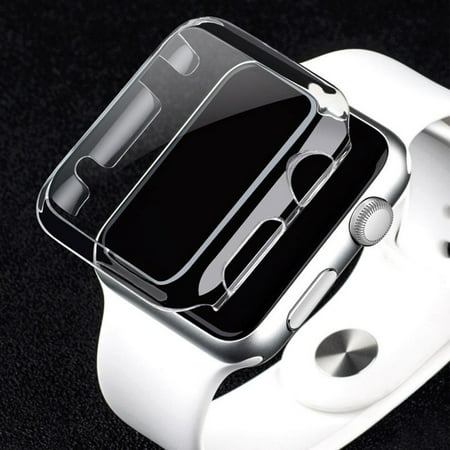 new style 0b7c8 a98f6 Apple Watch Series 3 42 MM Hybrid TPU Rubber Silicone Hard Case Cover  Crystal CLEAR Screen Cover for Apple Watch iWatch Series 3 42mm