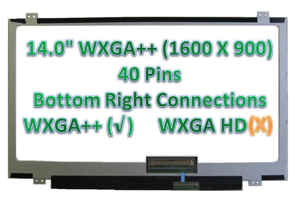 "AU OPTRONICS B140RTN03.1 LAPTOP LED LCD Screen 40 PIN 14.0/"" WXGA+ Bottom Right"