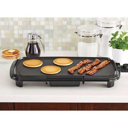 ie Cast Aluminum Bakeware Grill Plate Griddle with Adjustable Thermostat, Aluminum die-cast griddle By Mainstays..
