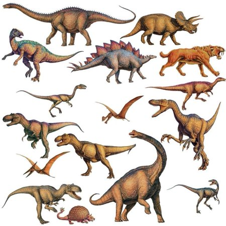 Lunarland DINOSAURS 16 BiG Wall STICKERS Boys Room Decor Decals Bedroom Decoration T-REX, Transformtransform any room in minutes with roommates.., By Lunarland Wall Stickers for $<!---->