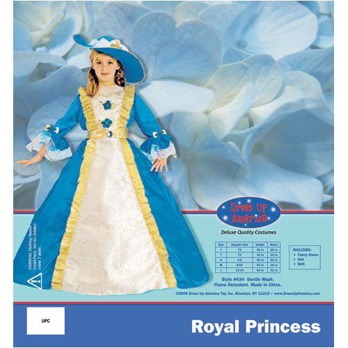 Dress Up America 434-L Blue Princess - Large 12-14