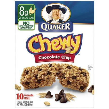 Nonuttin' Chewy Chocolate Chip Granola Bars Recipe — Dishmaps